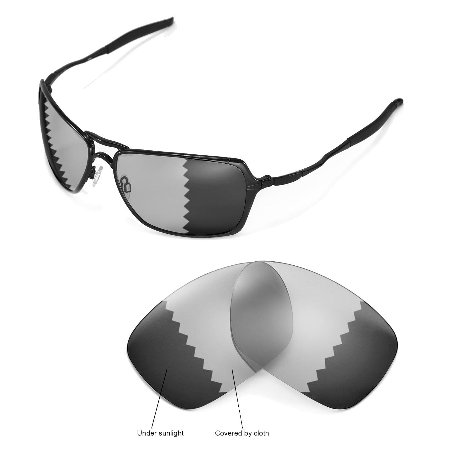 0348610338 Amazon.com   Walleva Replacement Lenses for Oakley Inmate Sunglasses -  Multiple Options Available (