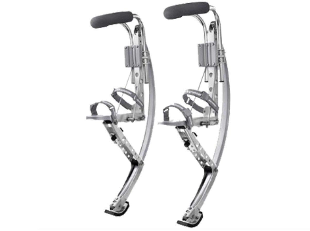 Amazon.com : Adult Kangaroo Shoes Jumping Stilts Fitness Exercise (200-242lbs/90~110kg) Bouncing shoes (silver)