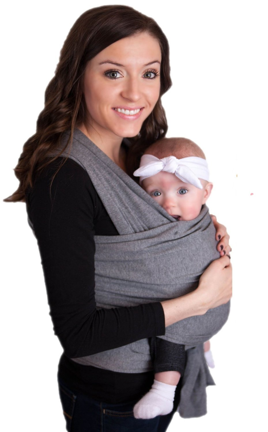 Amazon.com : LIFETIME GUARANTEE - CuddleBug Baby Wrap Carrier - Grey Baby Wrap - Free Shipping - ALL NATURAL BABY CARRIER- One Size Fits All - Money Back Guarantee (Grey)
