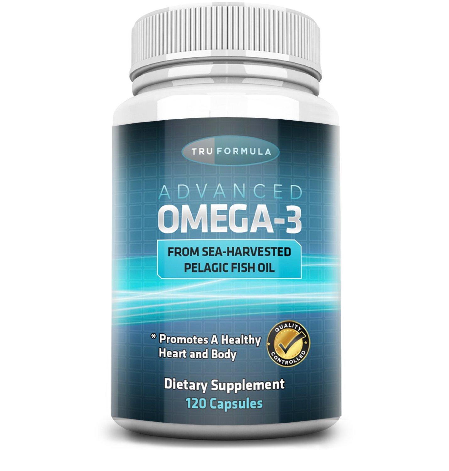 Advanced Omega 3 - 100% Pure Sea Harvested Pelagic Fish Oil + Natural Essential Fatty Acids -Promotes Healthy Cardiovascular System, Joint Flexibility, Eye Health & Proper Nerve Function -4 Months Supply 120 Soft Gels, Easily Swallowed & Digested!