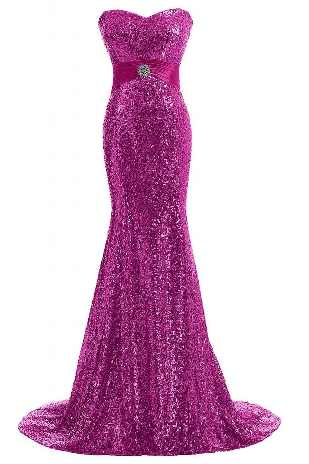 Gorgeous Bridal Top Design Glitzy Sequined Dress Fitted Long Evening Gown | Amazon.com