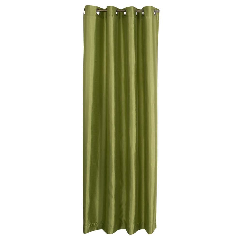 Amazon.com - Stylemaster Tribeca 56 by 63-Inch Faux Silk Grommet Panel, Avocado - Window Treatment Panels