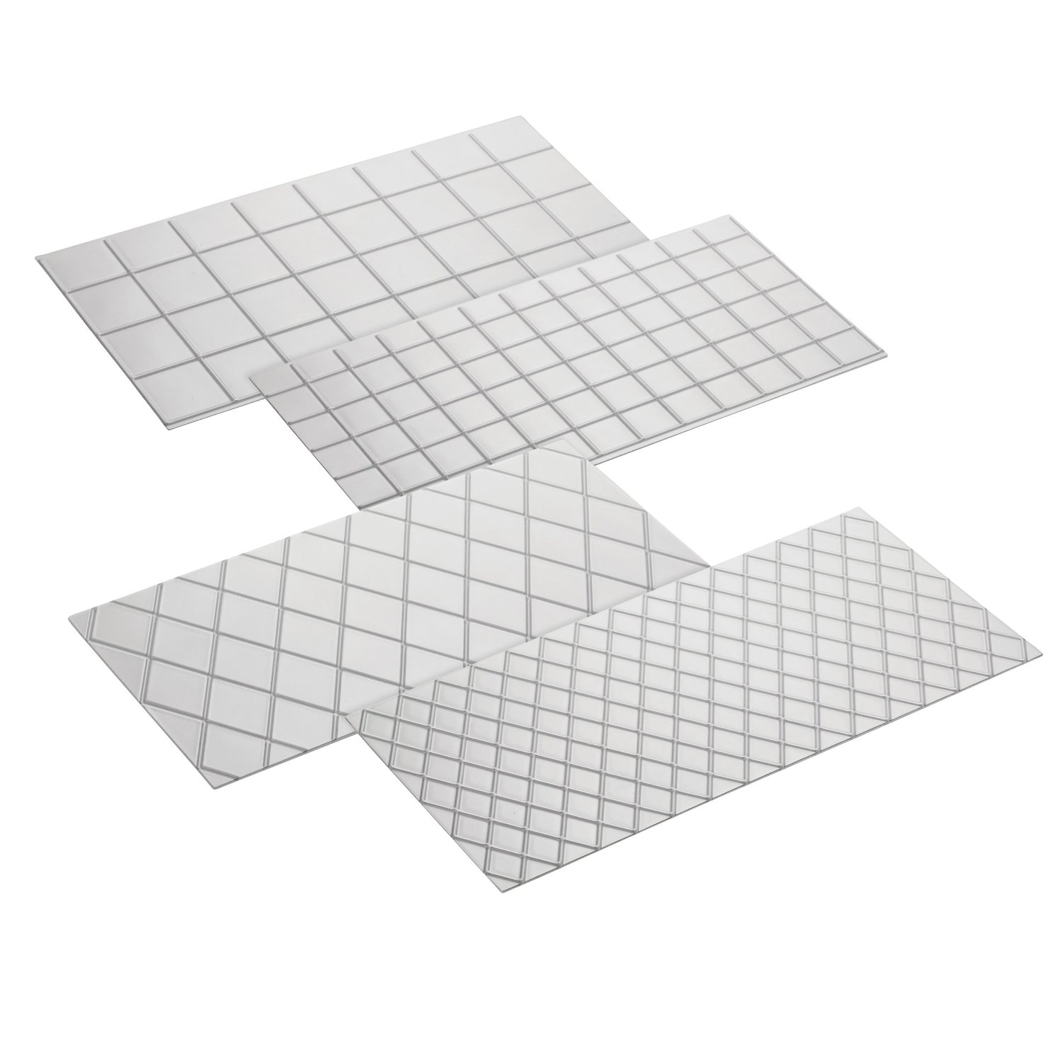 Cake Boss Decorating Tools 4-Piece Quilted Fondant Imprint Mat Set, Clear: Collectibles