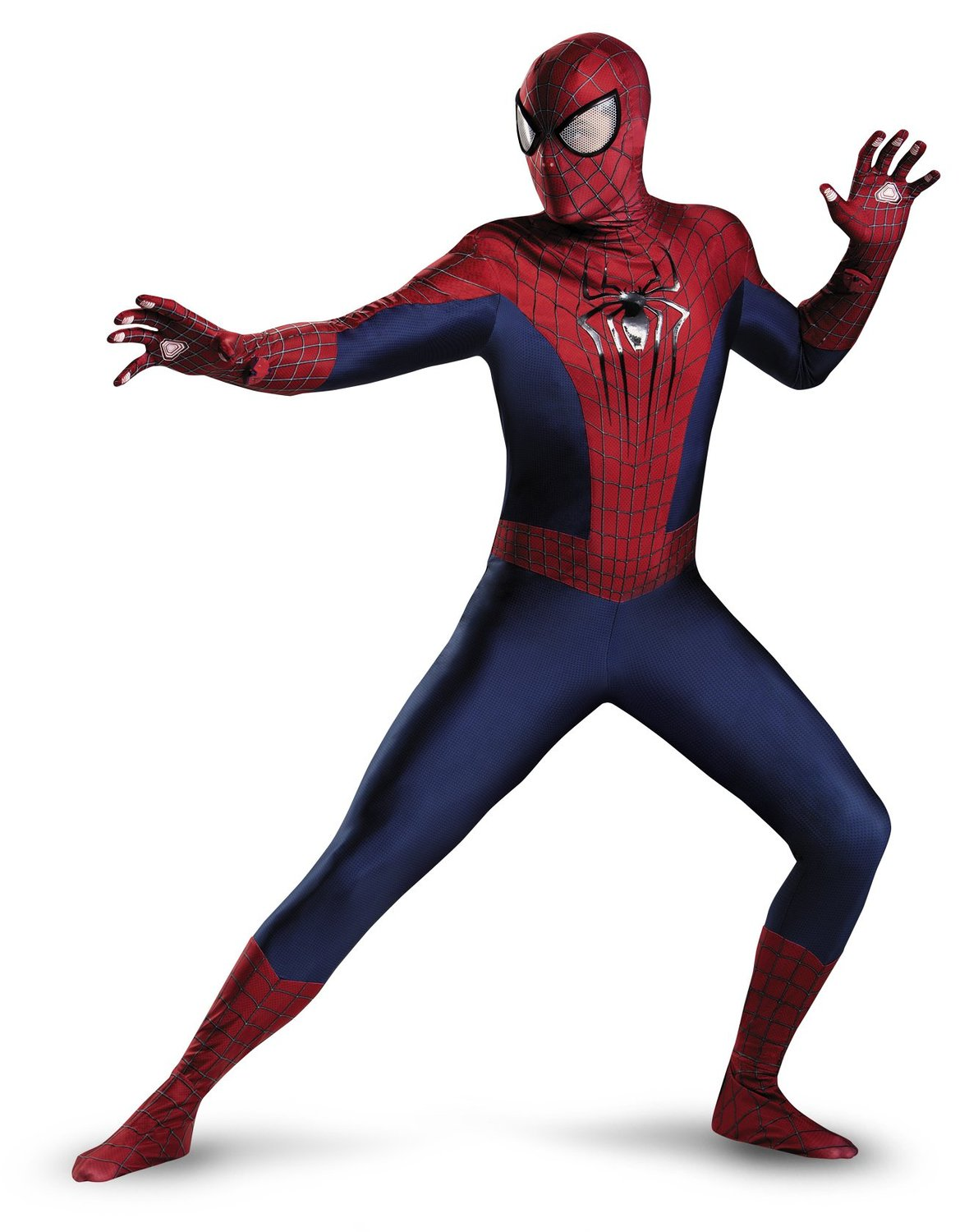 Disguise Men's Marvel The Amazing Movie 2 Spider-Man Theatrical Adult Costume, Blue/Red/Black, XX-Large/50-52