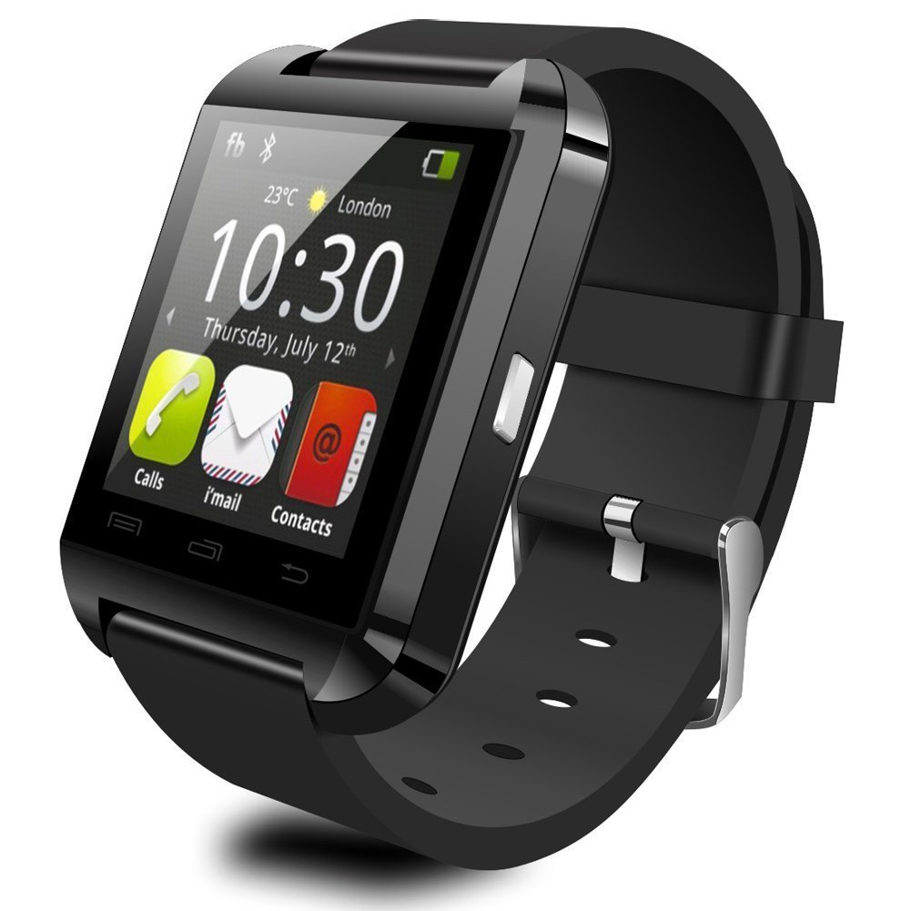 EFOSHM® SAFE Black Luxury Fitness Sport V8 Smart Bracelet Watch Bluetooth Wireless Notification Phonebook Dialer Messaging Call Log Notifier Music Camera Remote Camera Control Anti Lost Anti-Lost Menustyle Ringtone Sleep Monitor Pedometer Fit Fitness Health Sports Exercise Calls SMS Reminder Multil