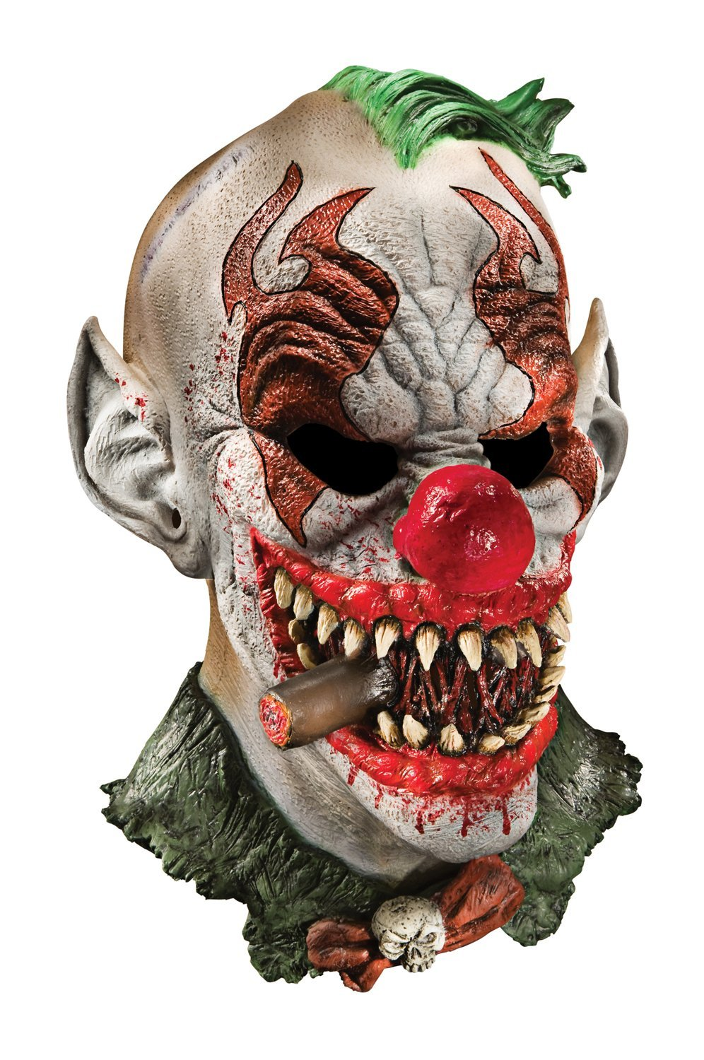 Foam Latex Mask, Deluxe Fonzo The Clown-Adult: Childrens Costume Masks