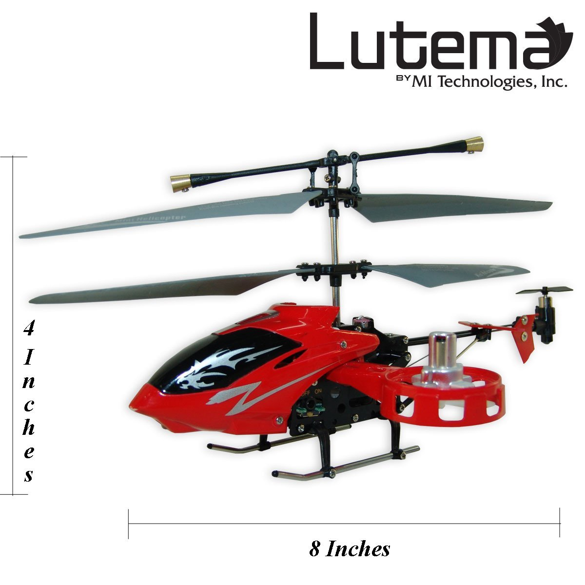 Lutema Avatar Hovercraft 4CH Remote Control Helicopter - Red