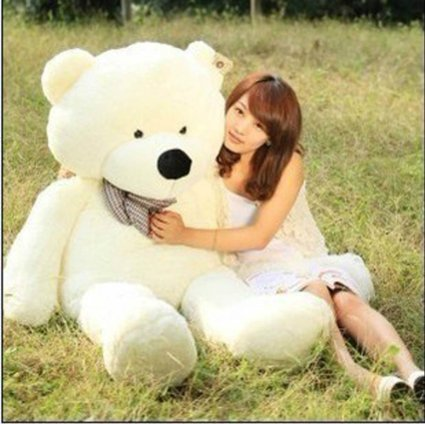 "VILAVI 47"" White color 120CM Giant Huge Cuddly Stuffed Animals Plush Teddy Bear Toy Doll"