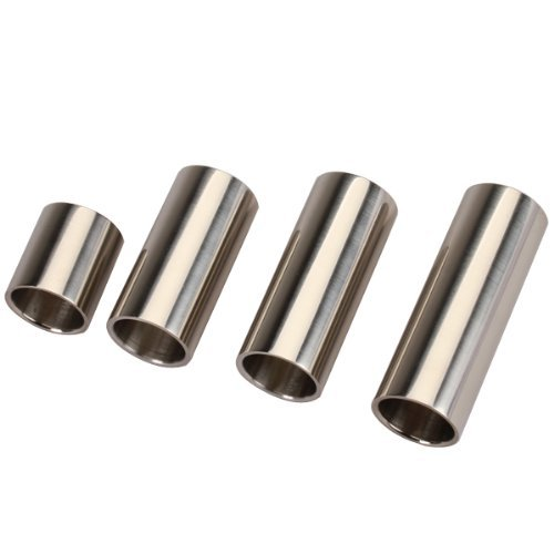4pcs Stainless Steel Guitar Slides Set / Silver Hard-chrome Plated Guitar Slides set--Offer Super Sustain, Intonation and Sound