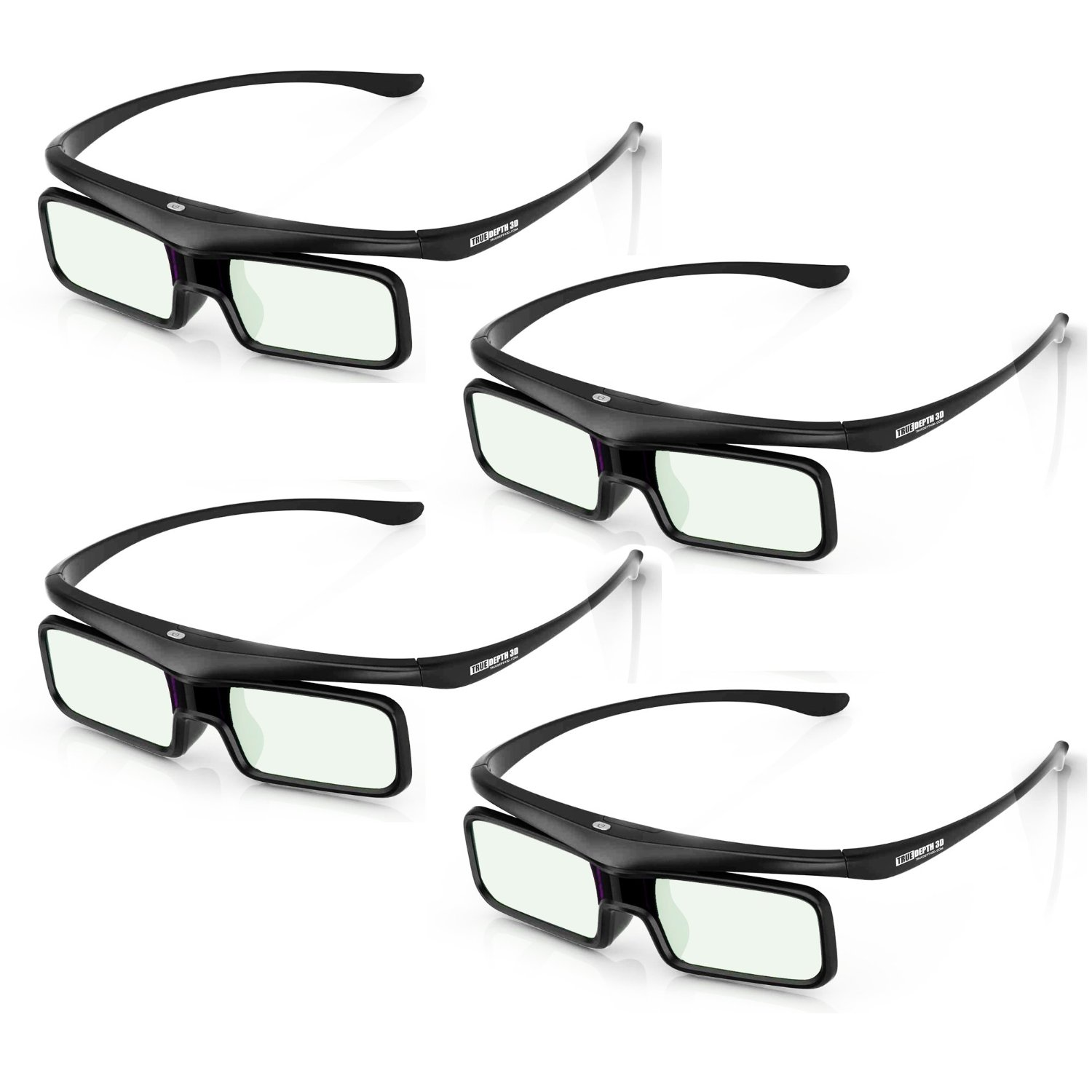 True Depth 3D® Firestorm BT Glasses for Bluetooth Mitsubishi 3D TVs (642 and 842 Series) 4 Pairs!