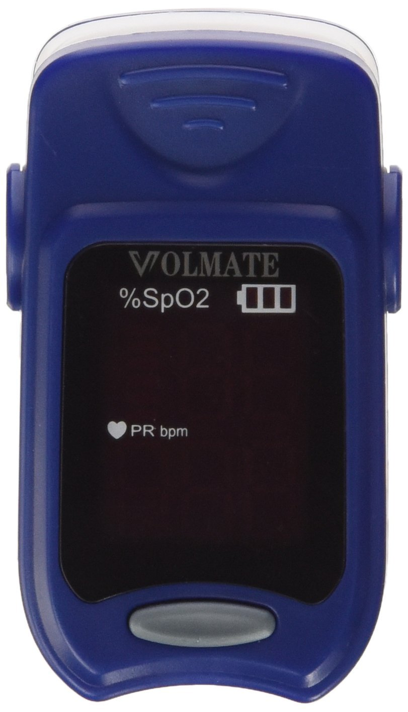 Volmate VOL60A Pulse Oximeter Finger Pulse Blood Oxygen SpO2 Monitor w/ carring case, landyard & Battery FDA CE Approved