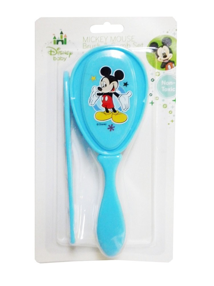 Disney Baby Mickey Mouse Hair Brush & Comb Set (Blue)
