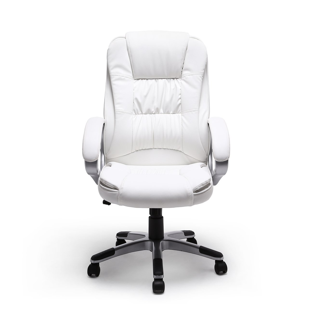 Bellezza© Ergonomic Office Leather Chair Executive Computer Hydraulic, White