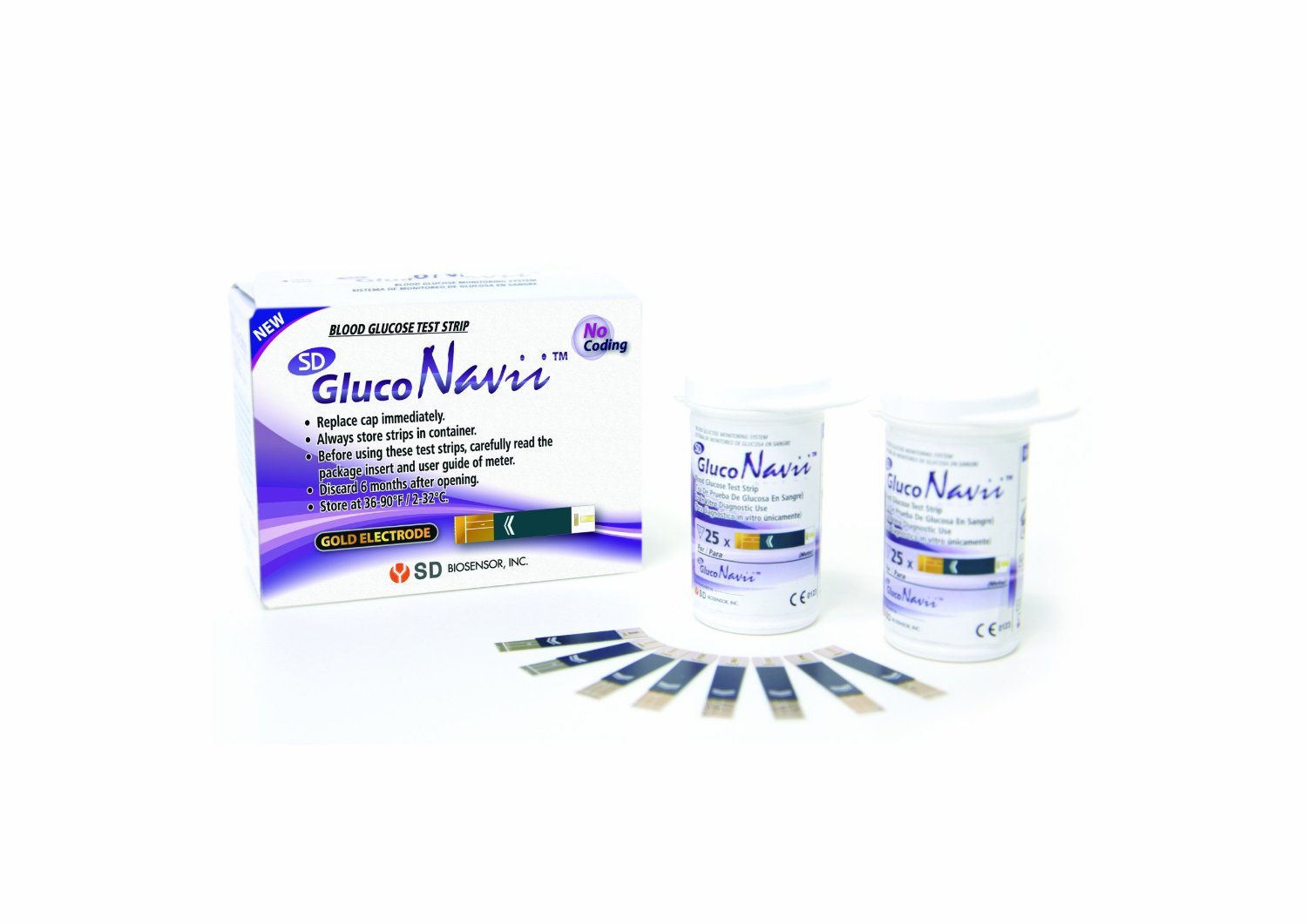 GlucoNavii Blood Glucose Test Strips - 100 Ct. Box