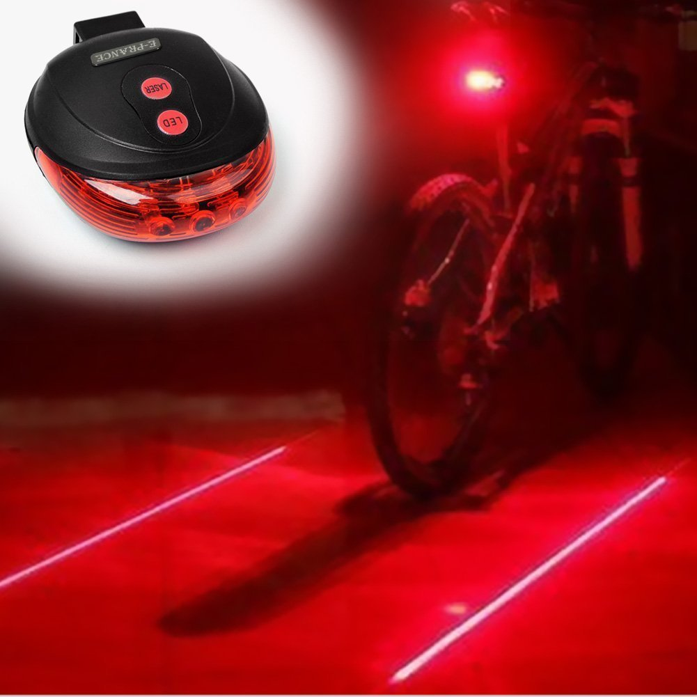 Amazon.com : FREETOO® New Bicycle Cycling Laser Tail Light Water Resistant 2 Laser 5 LEDs 7 Modes Mountain Bike Safety warning Back Rear Led Red Light Flashlight Lamp (red2) : Automotive Seat Accessories