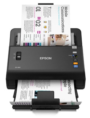 Epson WorkForce DS-860 Hi Speed, Sheet-Fed, Color Document Scanner, 80 page Auto Document Feeder (ADF) Duplex (B11B222201)