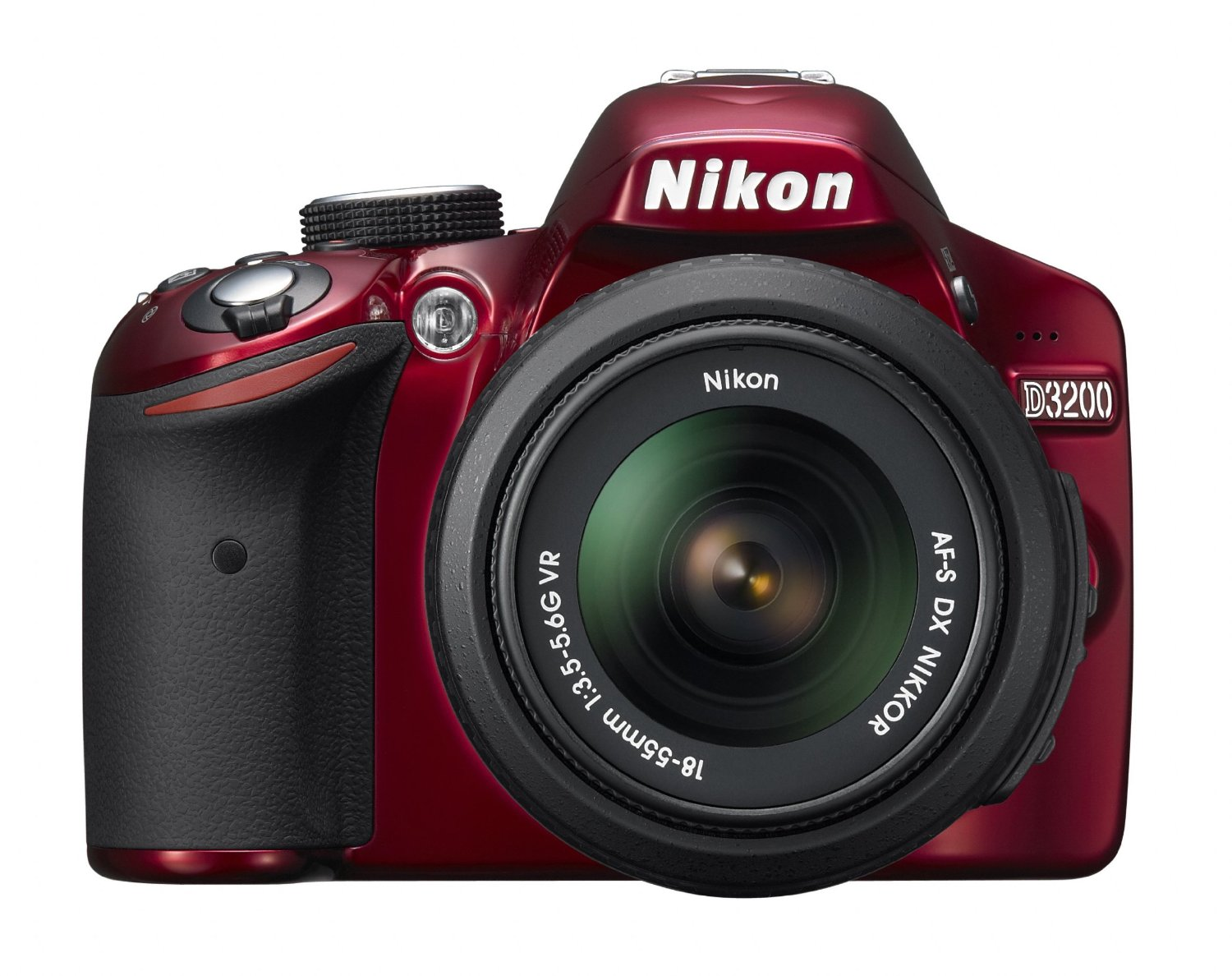 Amazon.com : Nikon D3200 24.2 MP CMOS Digital SLR with 18-55mm f/3.5-5.6 AF-S DX VR NIKKOR Zoom Lens (Red) : Slr Digital Cameras