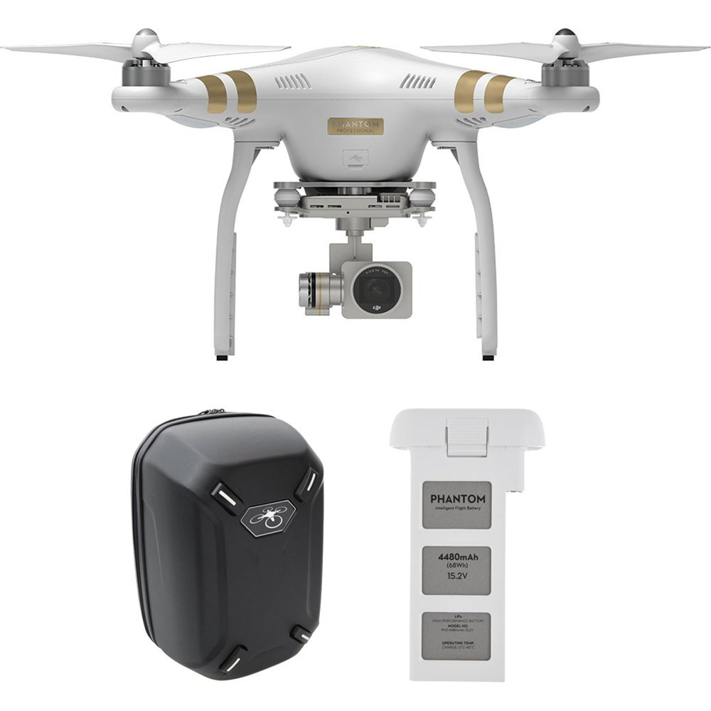 Amazon.com : DJI Phantom 3 Professional Quadcopter with 4K Camera, 3-Axis Gimbal, Extra Battery and Hard-shell Backpack, Remote Controller Included