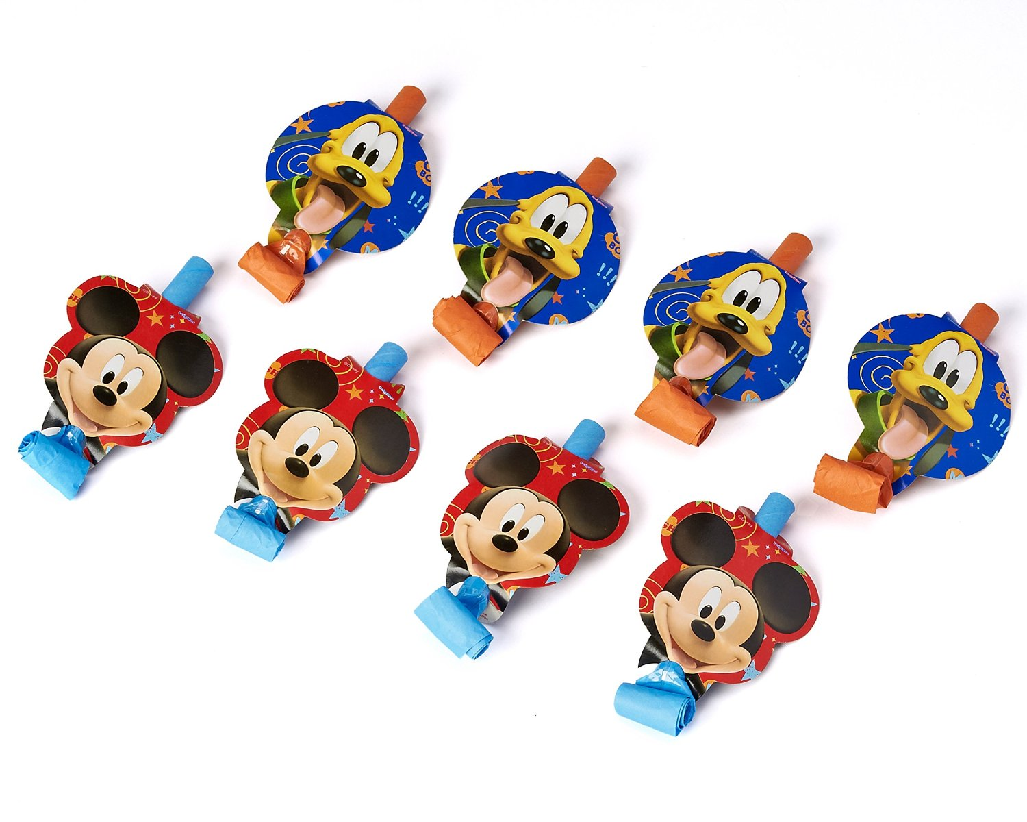 American Greetings Mickey Mouse Clubhouse Party Blowers (8-Pack), Party Supplies