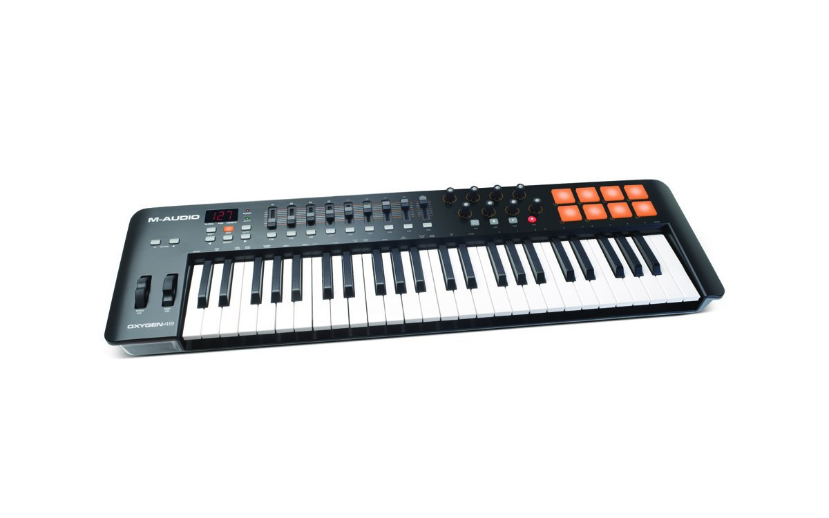 M-Audio Oxygen 49 MK IV 49-Key USB MIDI Drum Pad and Keyboard Controller