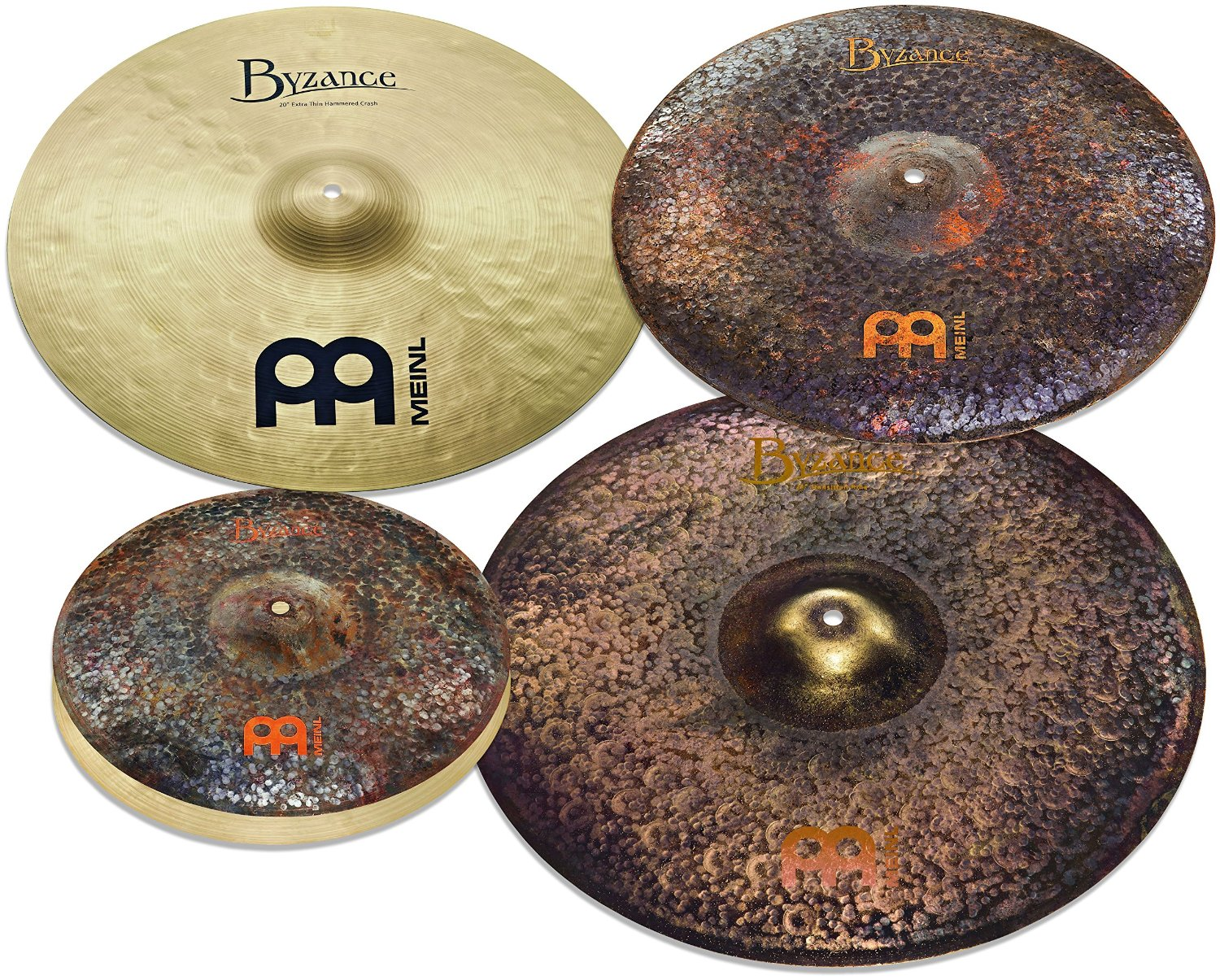 "Meinl Cymbals MJ401+18 Mike Johnston Pack Byzance Cymbal Box Set with Free 18"" Byzance Extra Dry Thin Crash (VIDEO)"