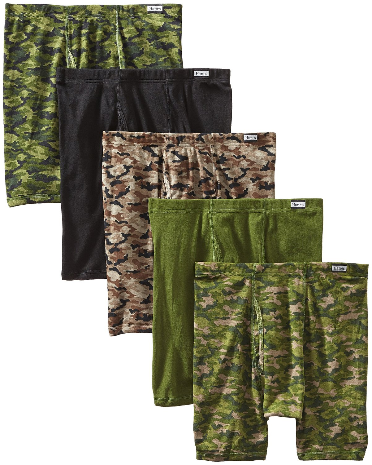 Hanes Men's 5-Pack Comfort Soft Printed Boxer Briefs at Amazon Men's Clothing store