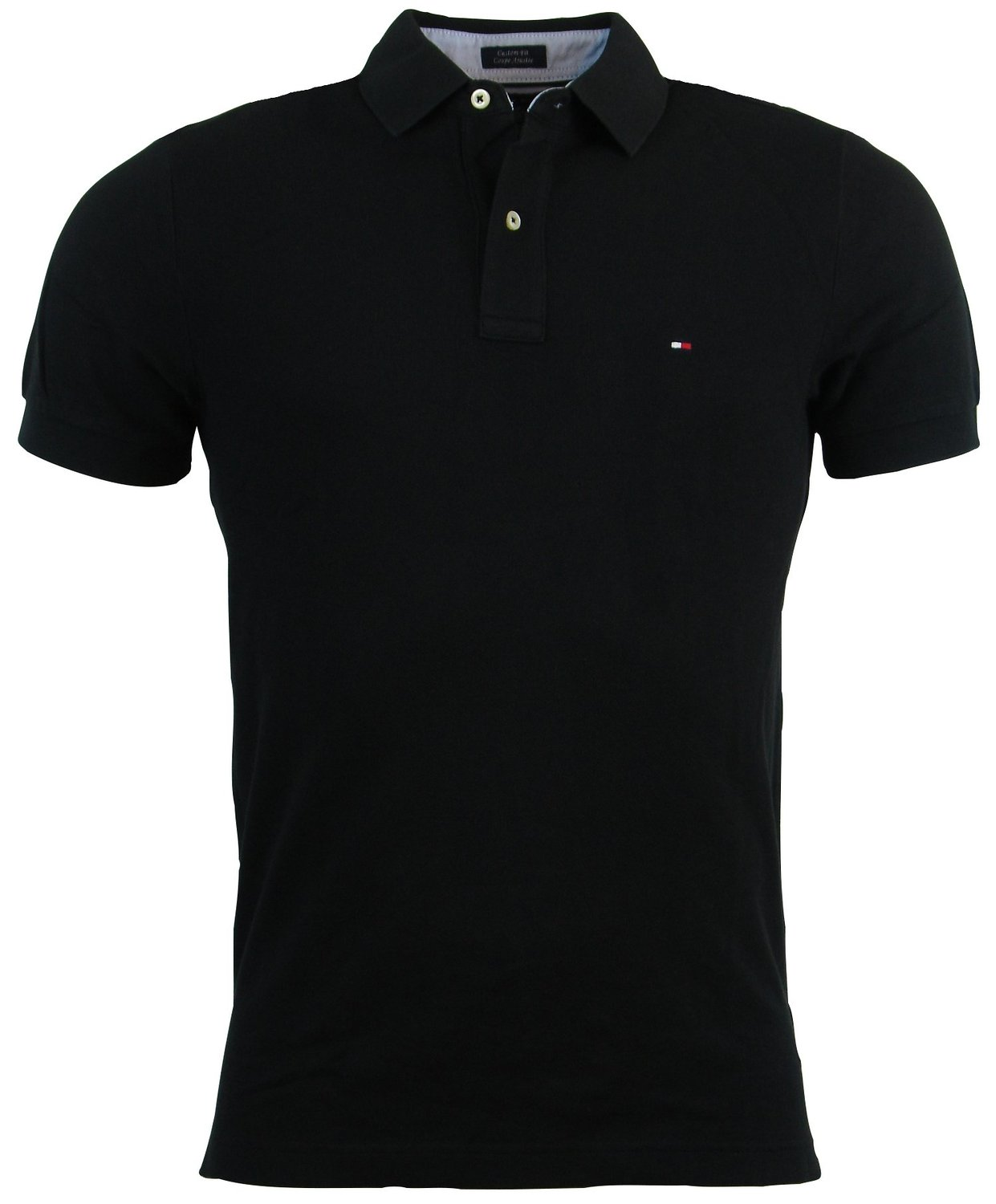 Tommy Hilfiger Mens Custom Fit Solid Color Polo Shirt at Amazon Men's Clothing store