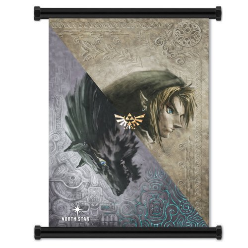 "1 X Legend of Zelda: Twilight Princess Game Fabric Wall Scroll Poster (16""x21"") Inches: Prints"