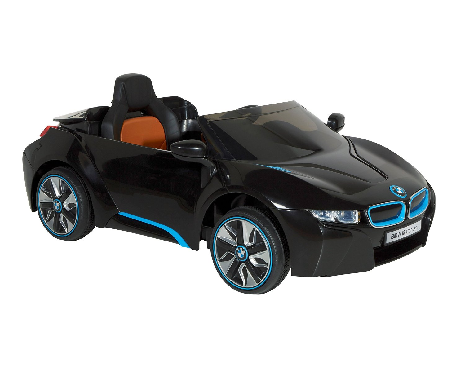 Amazon.com : BMW i8 Concept 6-volt Electric Ride-On Car, White/Black/Blue
