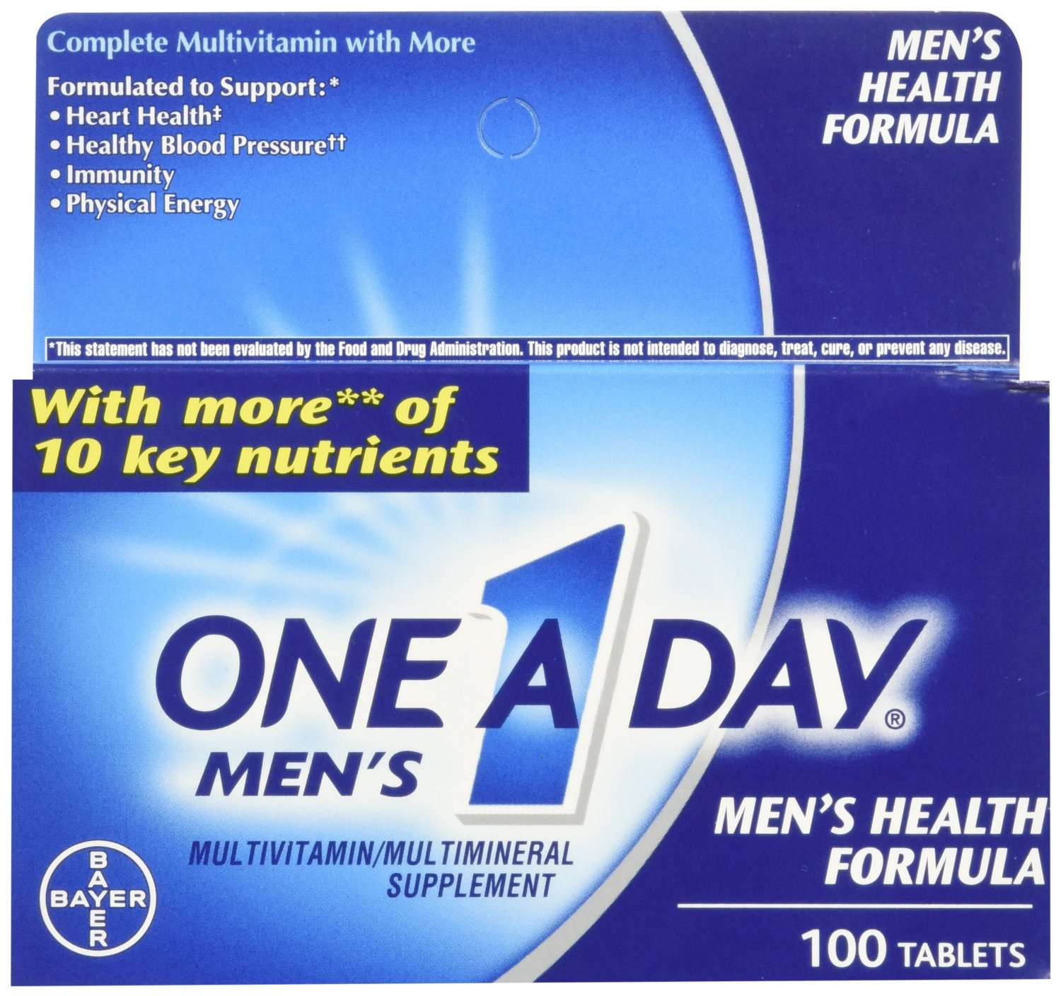 One-A-Day One-A-Day Men's Multivitamin Multimineral Supplement, 100 tabs