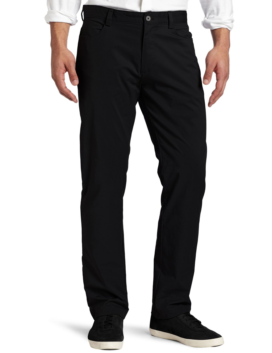Calvin Klein Men's Slim Fit 4-Pocket Stretch Sateen Pant at Amazon Men's Clothing store