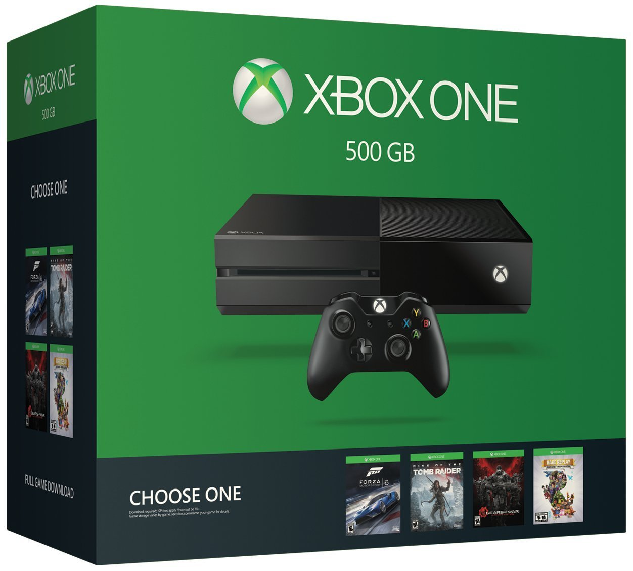Xbox One 500GB Console - Name Your Game Bundle: XBOX ONE CNSL 500GB 1P-BNDLE EN/FR/ES US/CANADA C-