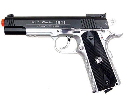 Amazon.com : 500 FPS NEW WG AIRSOFT FULL METAL M 1911 GAS CO2 HAND GUN PISTOL w/ 6mm BB BBs, Heavy Weight Realistic 1:1 Scale