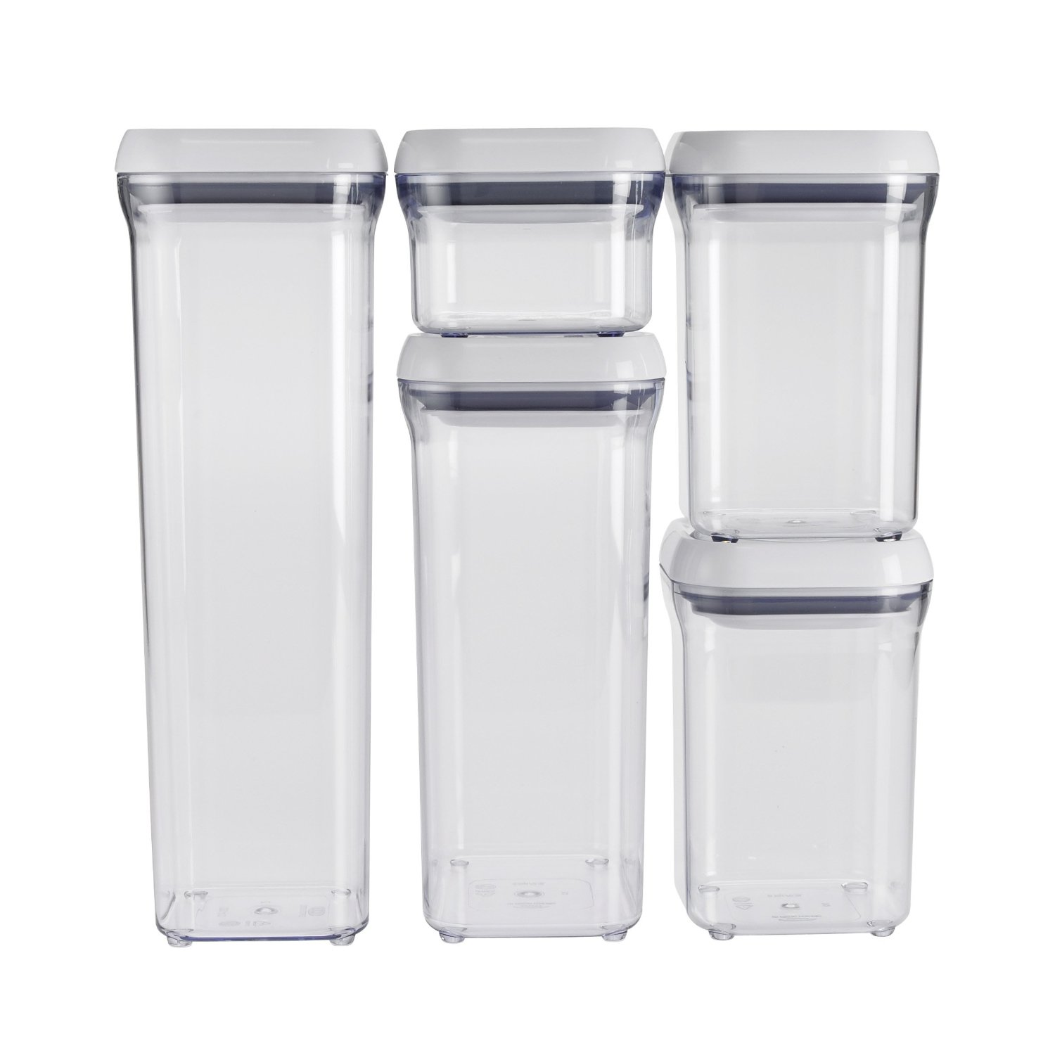 OXO Good Grips 5-Piece POP Container Set, White: Kitchen Storage And Organization Product Sets