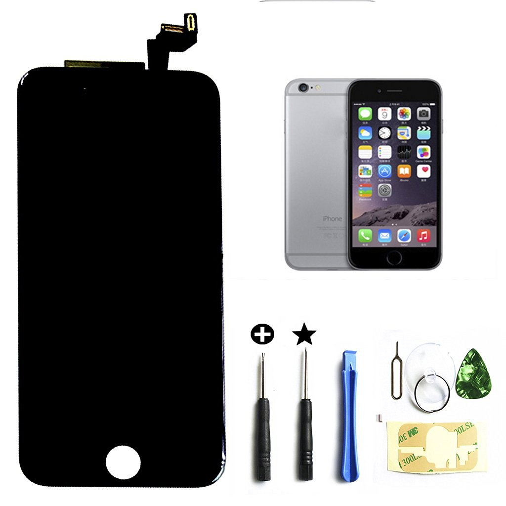 Black iphone 6s 4.7 inch Retina LCD Touch Screen Digitizer Glass Replacement Full Assembly with repair kit