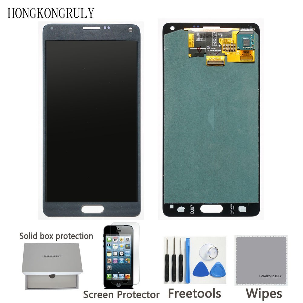 LCD display Touch Screen Digitizer Assembly for Samsung Galaxy Note 4 N910 N910S N910C N910A N910V N910P N910R N910T with free tools (Gold)