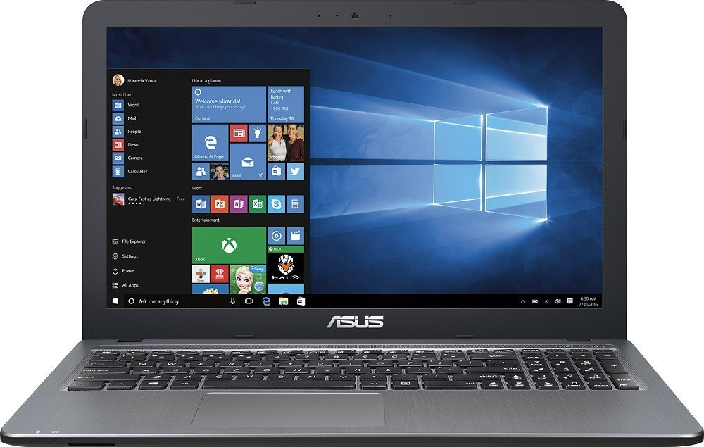 "2016 Newest ASUS 15.6"" High Performance Premium HD Laptop (Intel Quad Core Pentium N3700 Processor up to 2.4 GHz, 4GB RAM, 500GB HDD, SuperMulti DVD, Wifi, HDMI, VGA, Webcam, Windows 10-silver)"