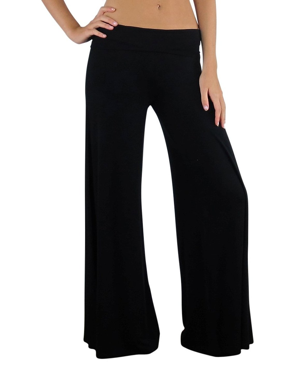 Free to Live Women's Wide Leg Boho Palazzo Gaucho Pants Made in USA at Amazon Women's Clothing store