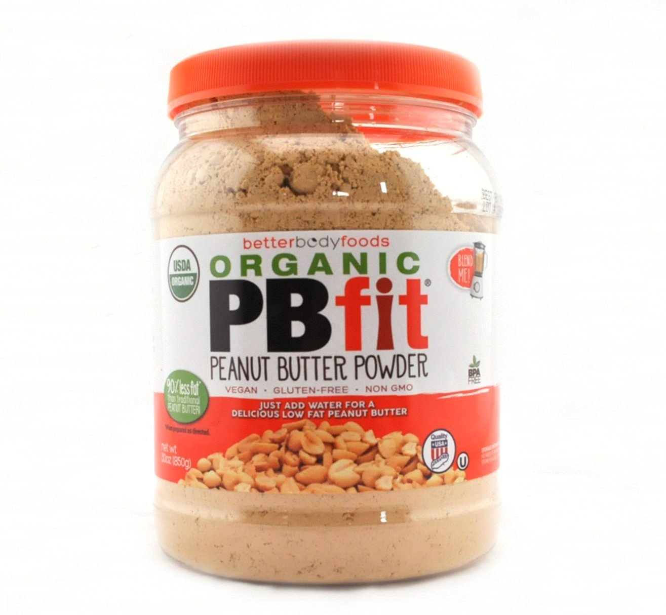 "BetterBody Foods PB Fit ""USDA Organic"" Powder, Peanut Butter, 30 Ounce"