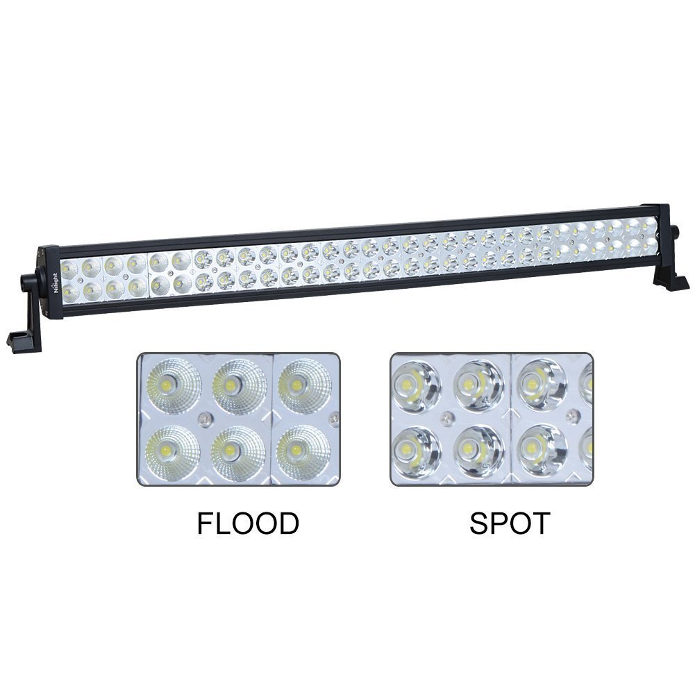 "Nilight 32"" 180W Spot Flood Combo Beam High Power LED Driving Lamp LED Light Bar Off Road Fog Driving Work Light for SUV Boat Jeep Lamp,2 Years Warranty"