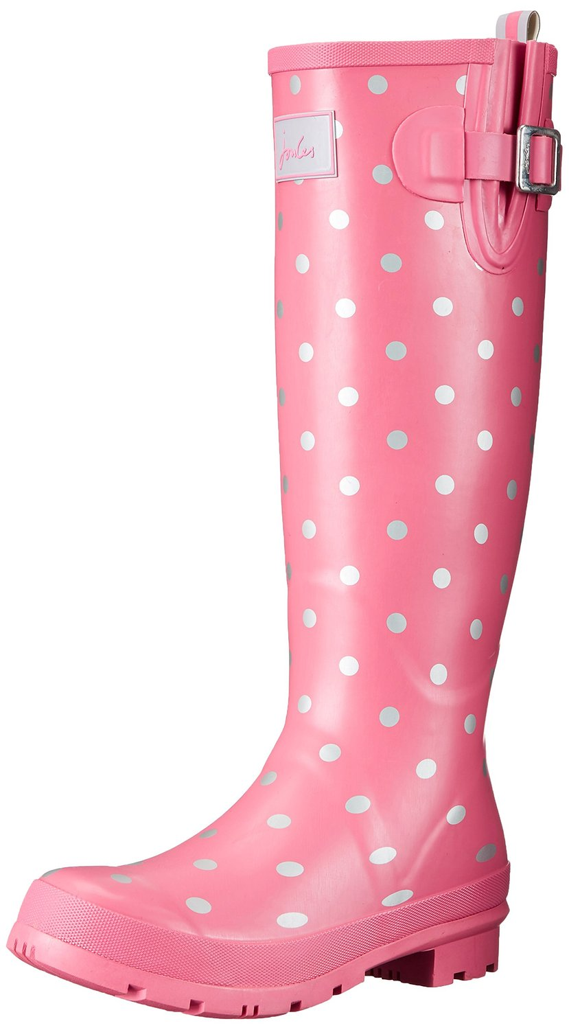 Amazon.com | Joules Women's Welly Print Rain Boot | Mid-Calf