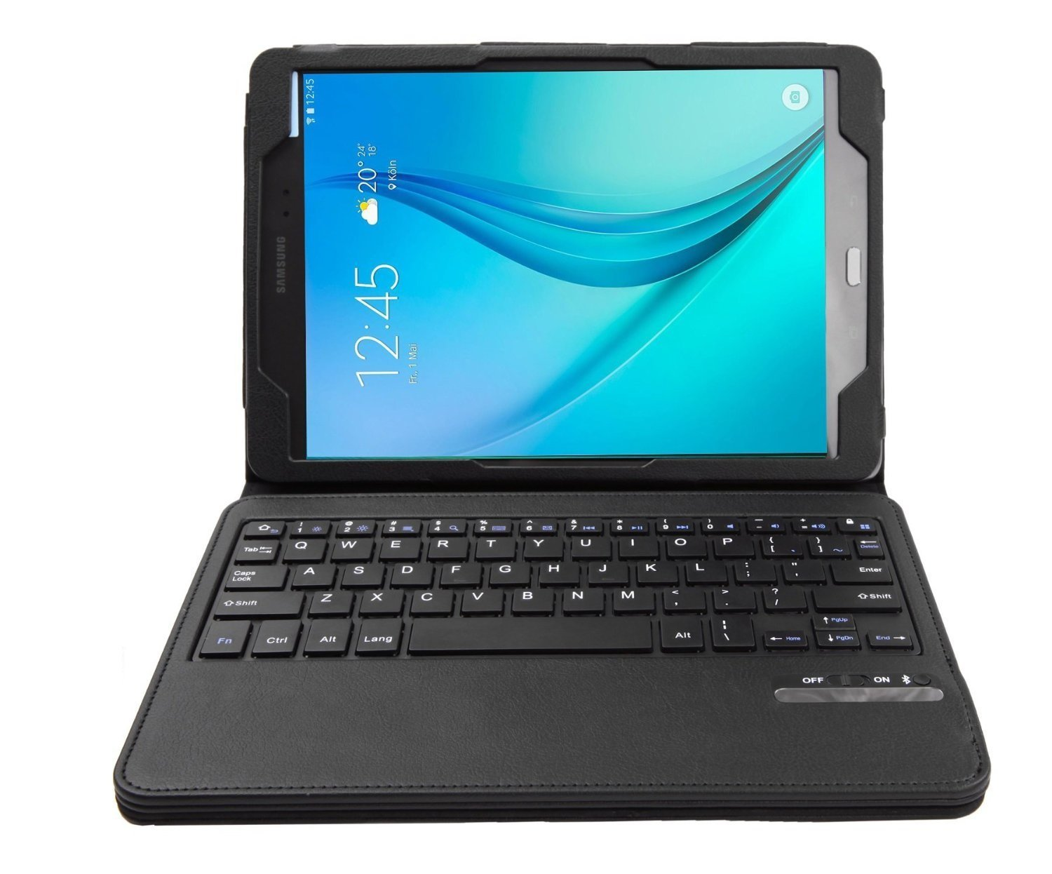 IVSO Galaxy Tab A 9.7 Keyboard case - Ultra-Thin High Quality DETACHABLE Bluetooth Keyboard Stand Case / Cover for SamSung Galaxy Tab A SM-T550NZWAXAR 9.7-inch Tablet (Black)