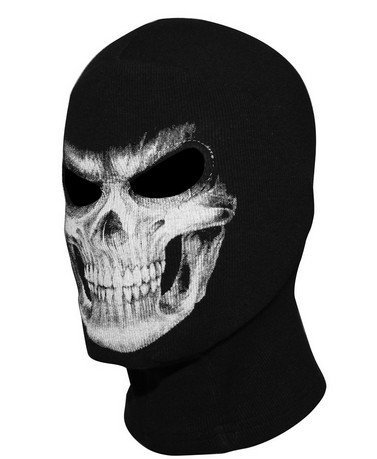 Skull Face Tube Mask Neck Gaiter Dust Shield Seamless Bandana Balaclava