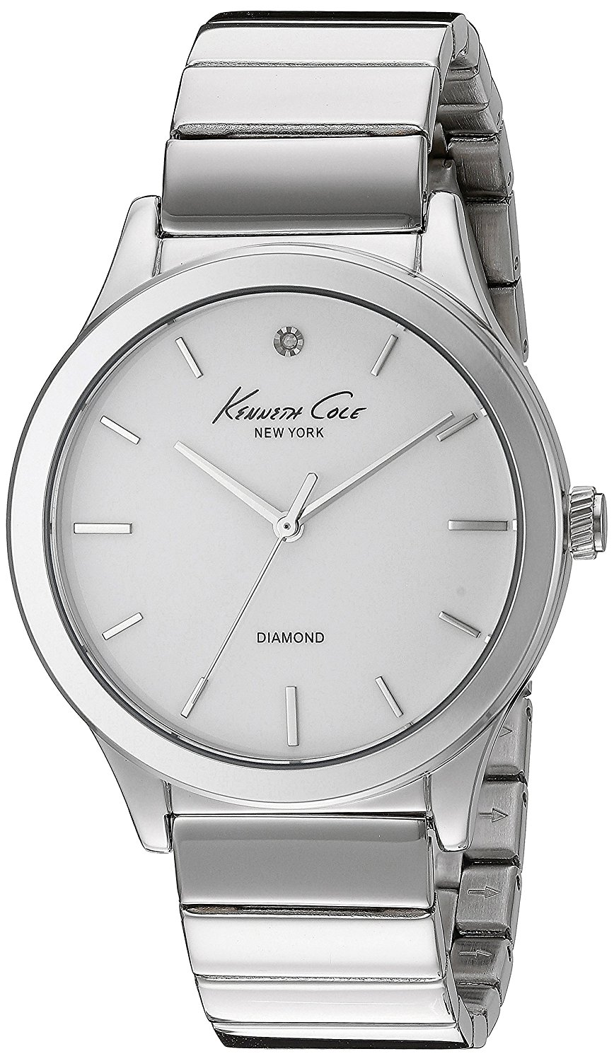 Kenneth Cole New York Women's 10024370 Genuine Diamond Analog Display Japanese Quartz Silver Watch: Kenneth Cole