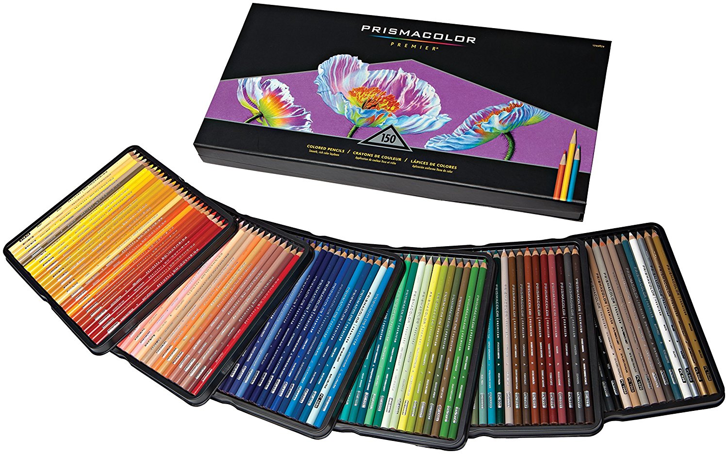 Prismacolor Premier Soft Core Colored Pencils, 150-Count : Wood Colored Pencils