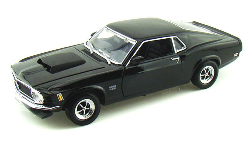 1970 Ford Mustang Boss 429, Black - Motormax 73154 - 1/18 scale Diecast Model Toy Car