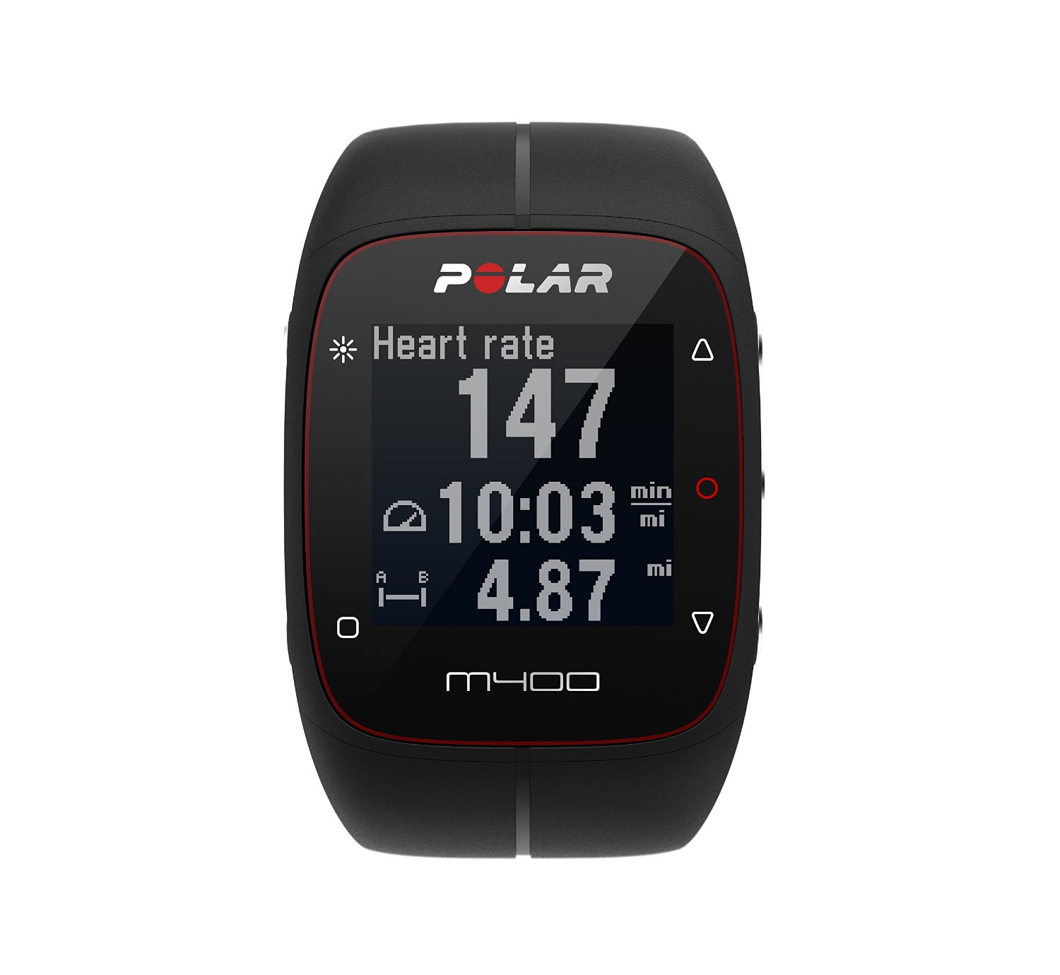 Polar M400 GPS Smart Sports Watch with Heart Rate Monitor (Black): Polar