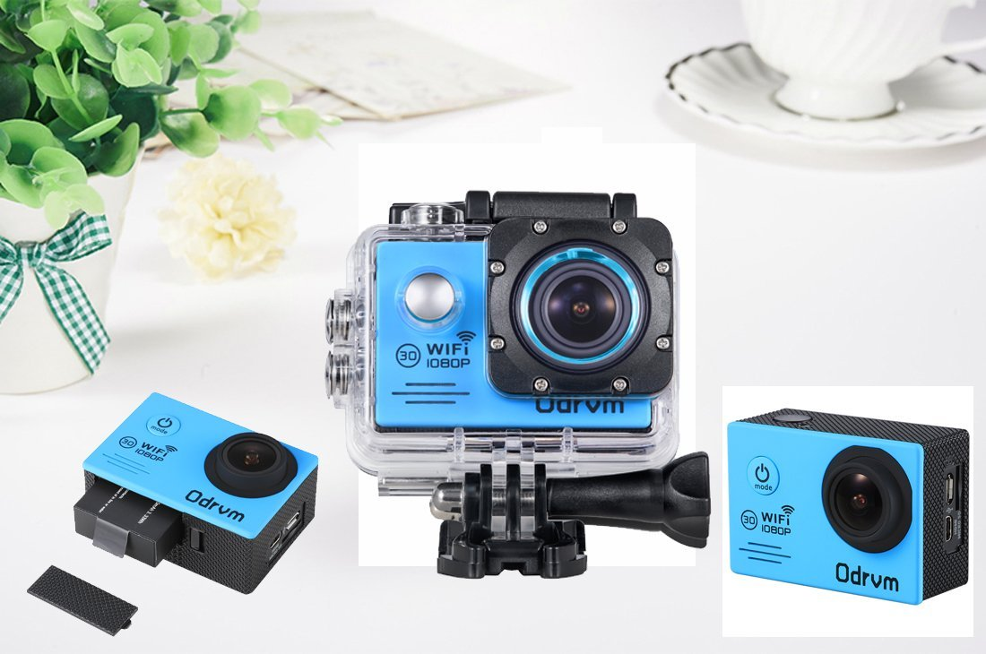 WIFI Underwater Camera HD 1080P Action Camera Waterproof With 2-Inch LCD for Riding, Racing, Skiing, Motorcycle, Motocross And Water Sports