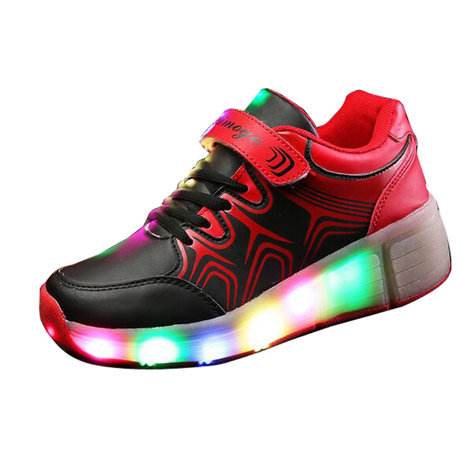 Amazon.com | Christmas Kid Youth Girl Boy Light Up Wheels Roller Shoes Skates Sneakers Birthday Gift | Sneakers