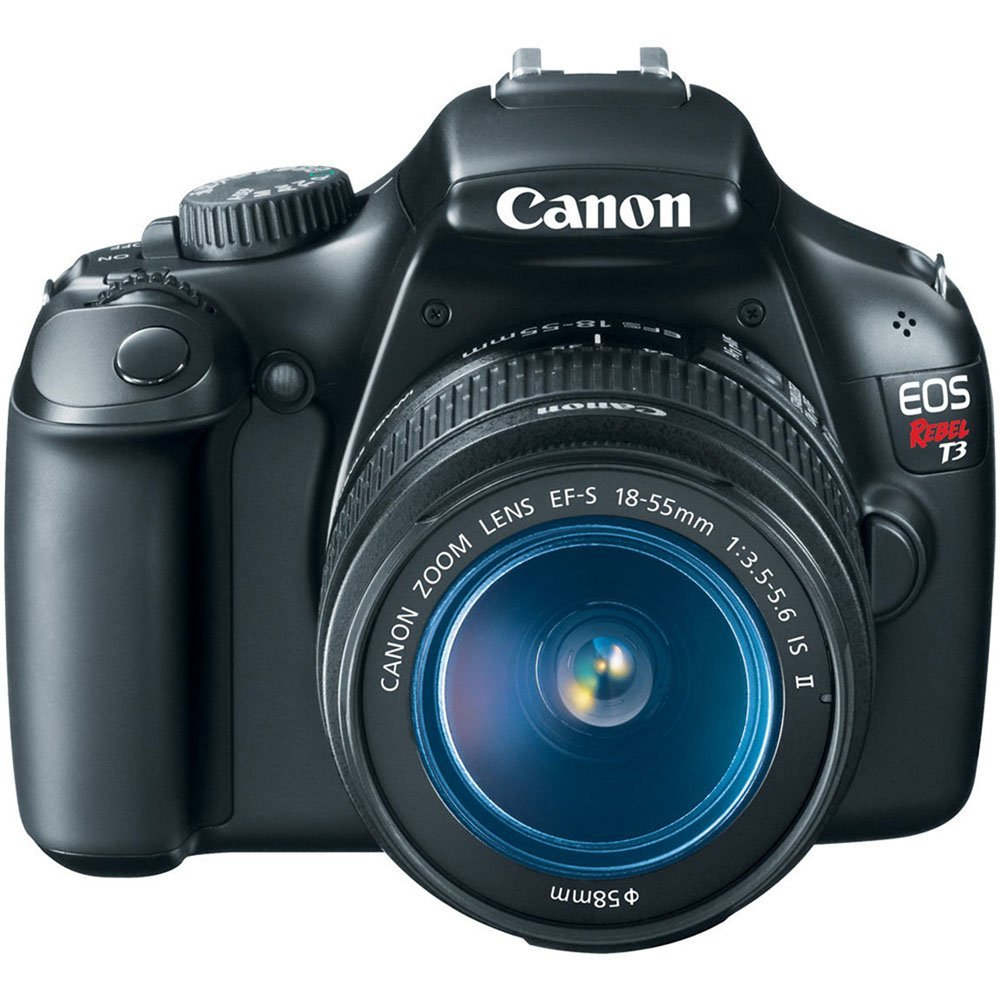 Canon EOS Rebel T3 Digital SLR Camera with EF-S 18-55mm f/3.5-5.6 IS Lens (discontinued by manufacturer): Rosewill